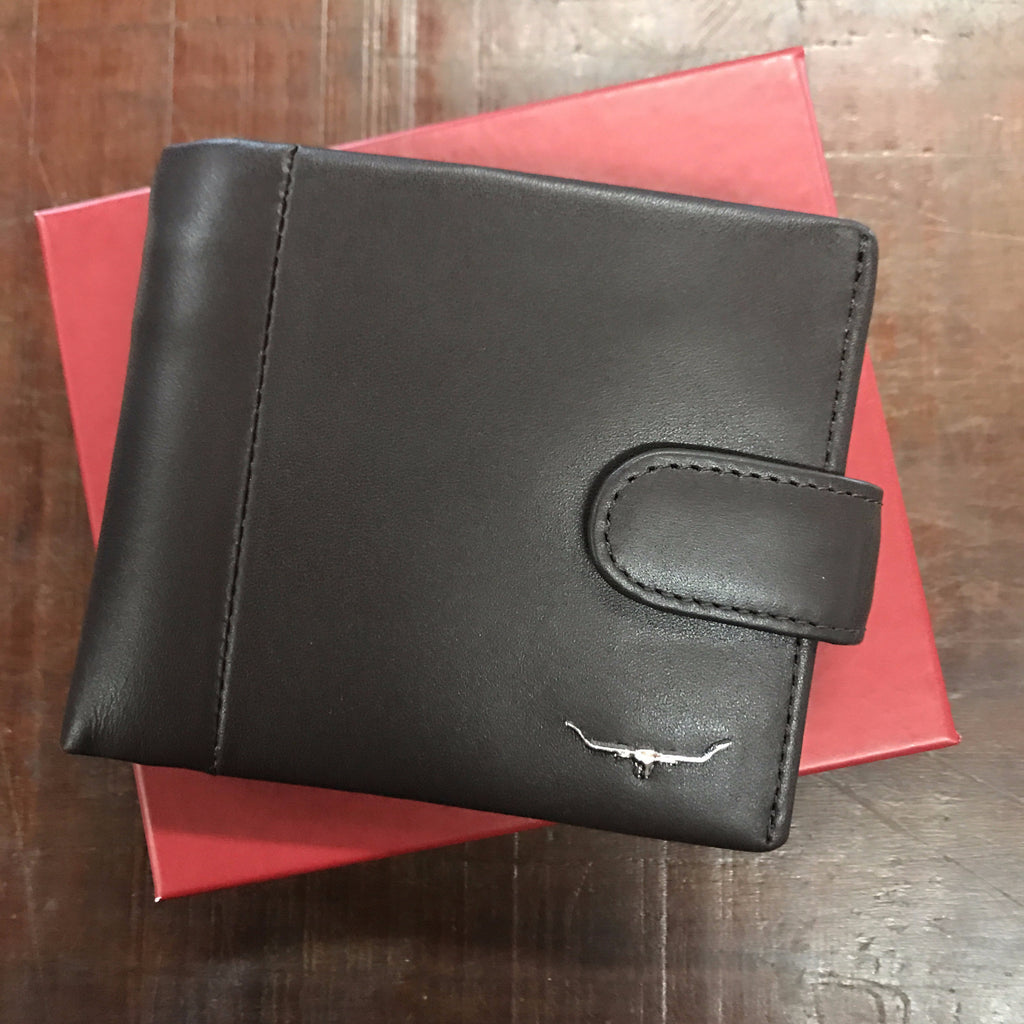 Chocolate Brown Mens Leather Wallet - R.M. Williams