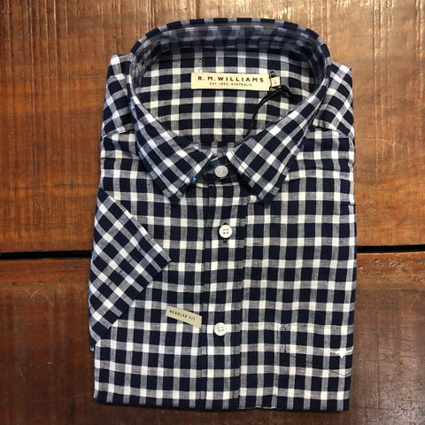 SH211LBV801 R.M.Williams Short Sleeve Hervey Shirt