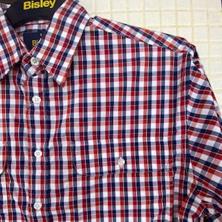 BS70011_CJER BISLEY MENS RED CHECK SHIRT