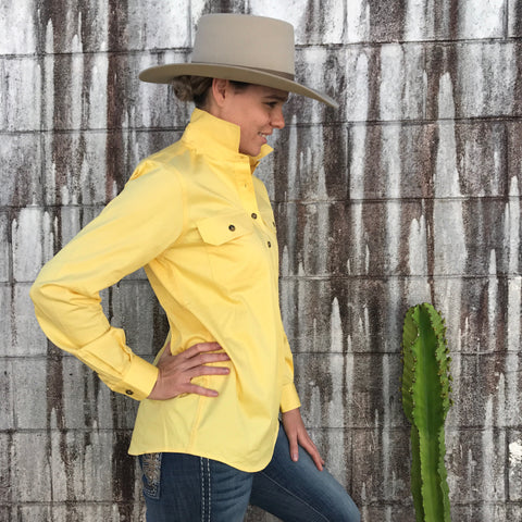 50505BUT Ladies Jahna Workshirt Butter - Just Country