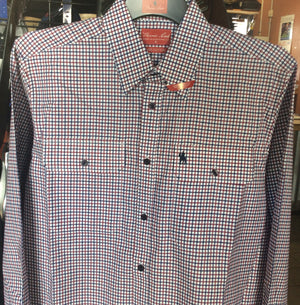 T0W1115007 THOMAS COOK Mens Campbell Check 2-pkt L/Sleeve Shirt
