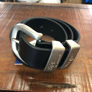 "CB439.02 RM Williams Black 11/2"" 3 Piece Solid Hide Belt"