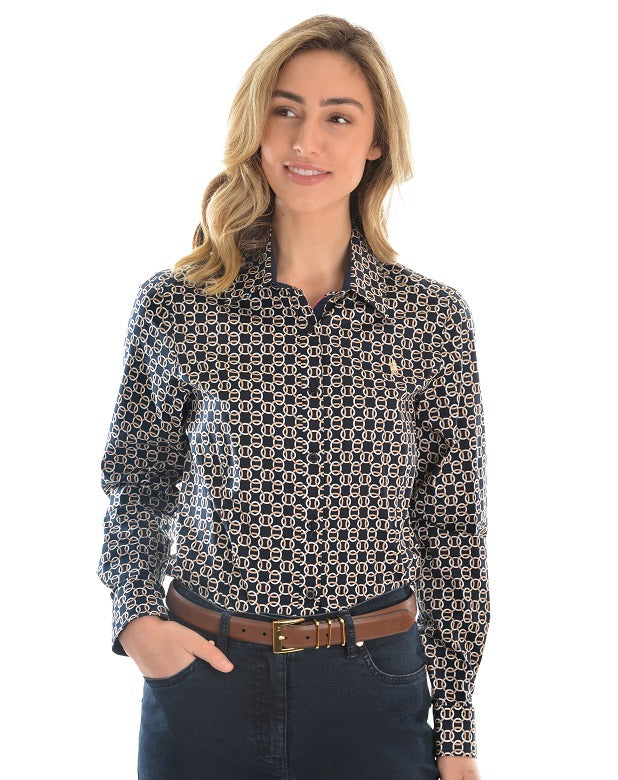 T0W2118058 THOMAS COOK Ladies Felicity L/Sleeve Shirt
