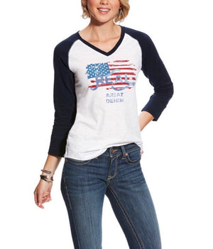 10025442 Ariat R.E.A.L Flag Tee