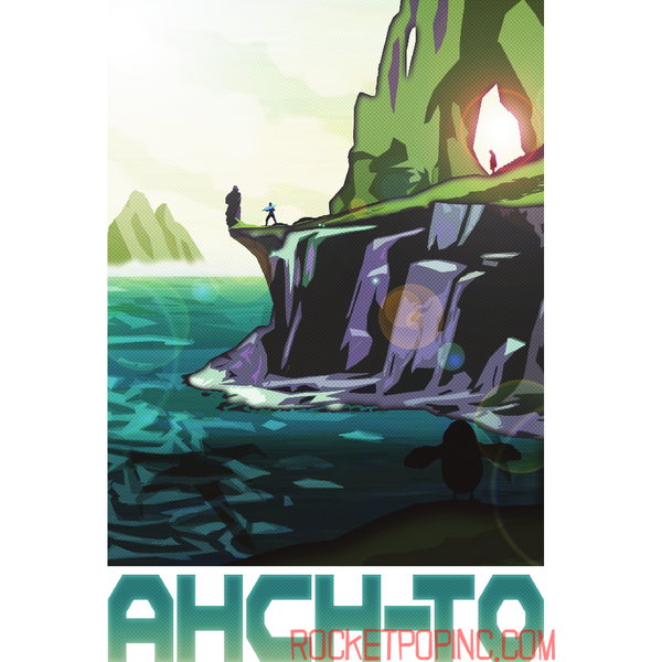"Ahch-To 13""x19"" Poster"