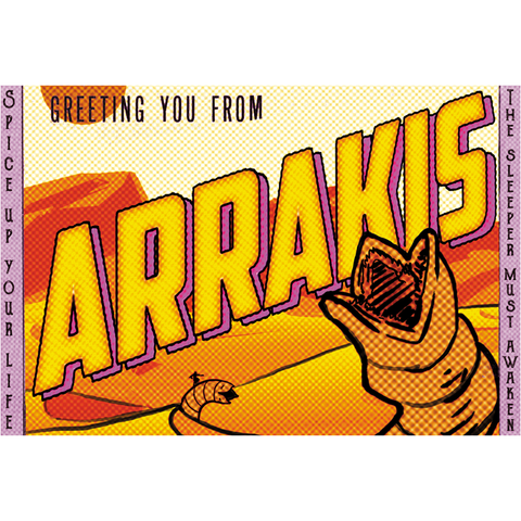 "Greetings from Arrakis 19""x13"" Poster"