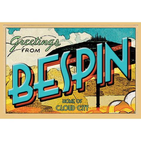 "Greetings from Bespin 19""x13"" Poster"