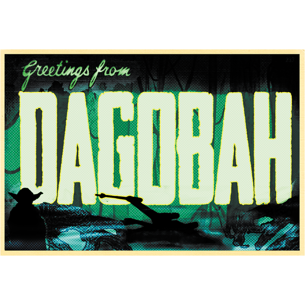 "Greetings from Dagobah 19""x13"" Poster"