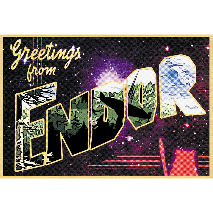 "Greetings from Endor 19""x13"" Poster"