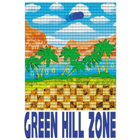 "Green Hill Zone 13""x19"" Poster"