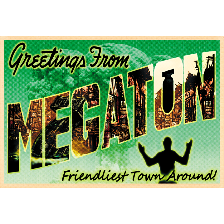 "Greetings from Megaton 19""x13"" Poster"