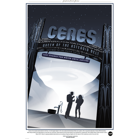 "NASA Travel - Ceres 13""x19"" Poster"