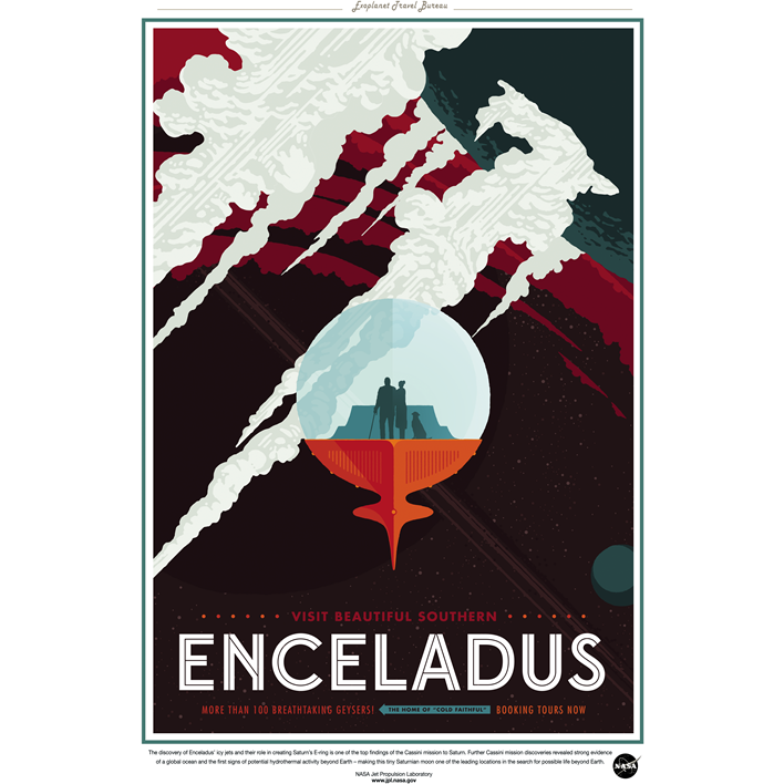 "NASA Travel Series - Enceledus 13""x19"" Poster"