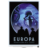 "NASA Travel Series - Europa 13""x19"" Poster"