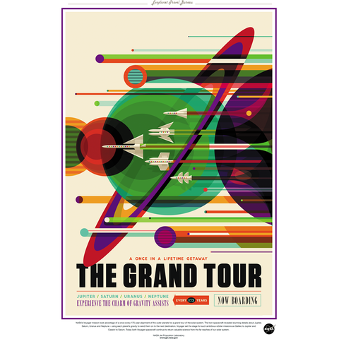 "NASA Travel - Grand Tour 13""x19"" Poster"