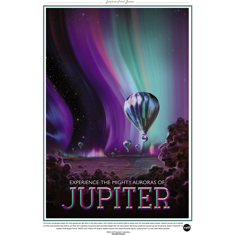"NASA Travel - Jupiter 13""x19"" Poster"