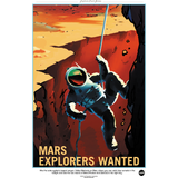 "NASA - Mars Series - Explorers Wanted - 13""x19"" Poster"