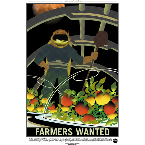 "NASA - Mars Series - Farmers Wanted - 13""x19"" Poster"
