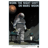 "NASA - Mars Series - Night Owls Wanted - 13""x19"" Poster"