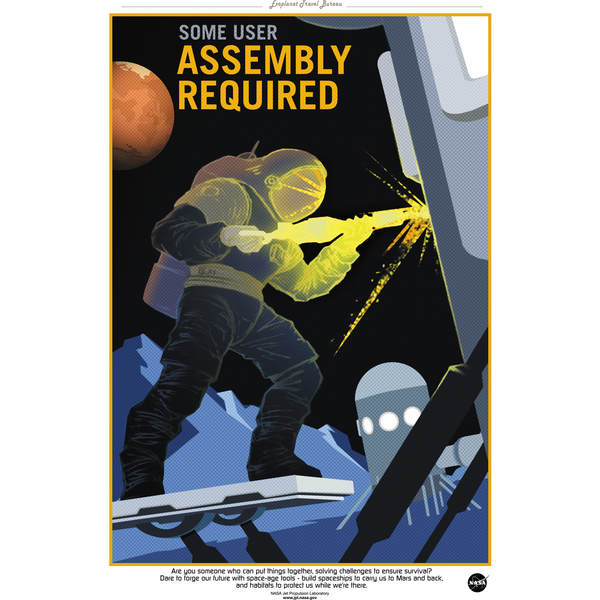 "NASA - Mars Series - Assembly Required - 13""x19"" Poster"
