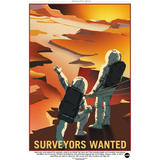 "NASA - Mars Series - Surveyors Wanted - 13""x19"" Poster"