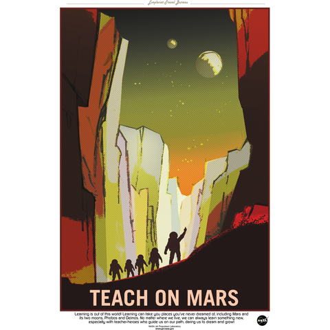 "NASA - Mars Series - Teachers Wanted - 13""x19"" Poster"
