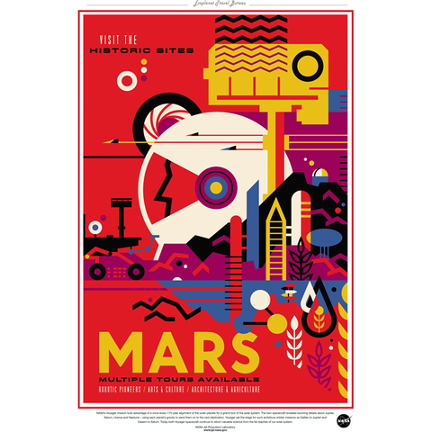 "NASA Travel - Mars 13""x19"" Poster"