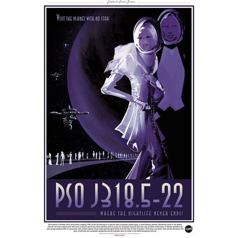 "NASA Travel - PSO 9318.5-22 13""x19"" Poster"