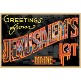 "Greetings from Jerusalem's Lot 19""x13"" Poster"
