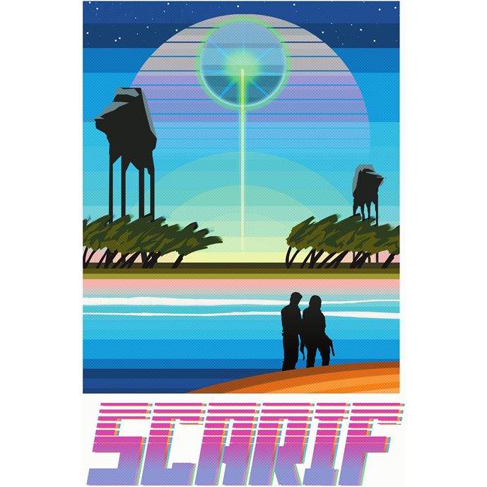 "Scarif 13""x19"" Poster"