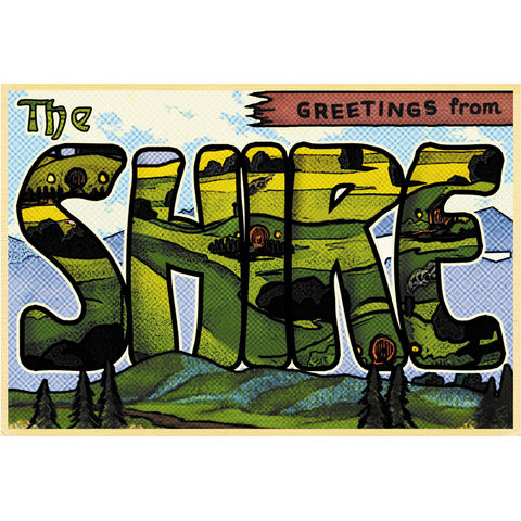 "Greetings from the Shire 19""x13"" Poster"