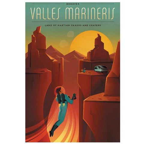 "SpaceX1 -Valles Marineres 13""x19"" Poster"