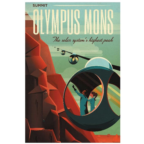 "SpaceX3-Olympus Mons 13""x19"" Poster"