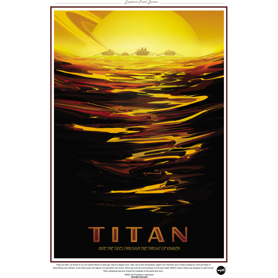 "NASA Travel Series - Titan 13""x19"" Poster"
