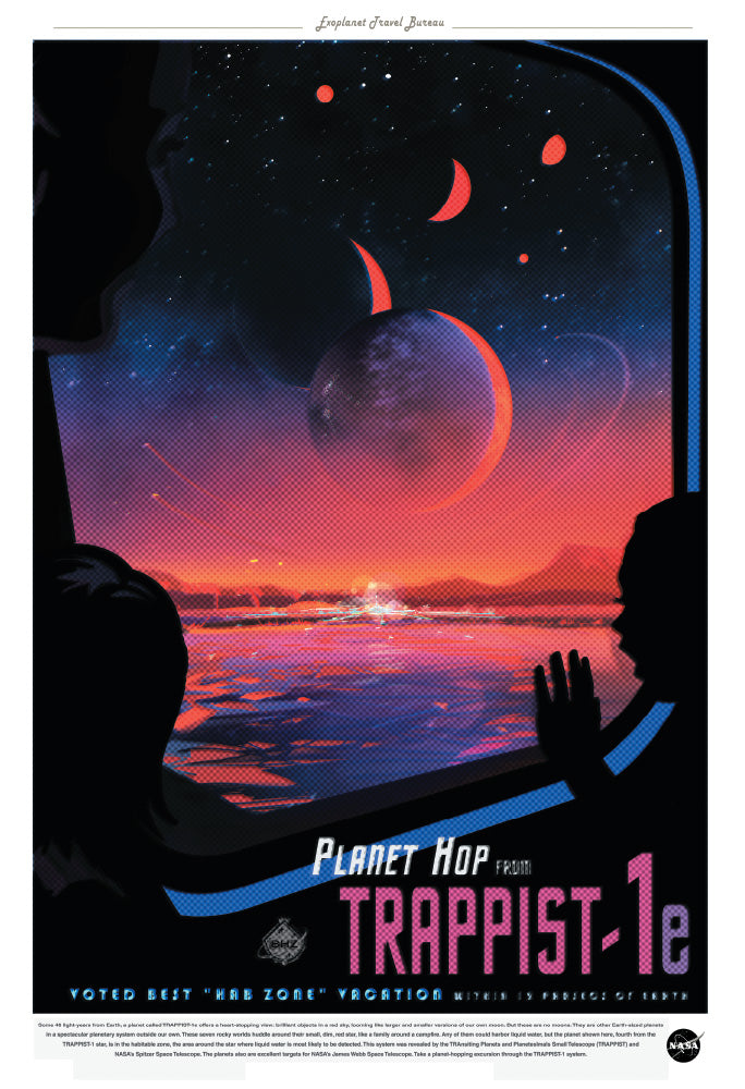 "NASA Travel Series - Trappist-1E 13""x19"" Poster"