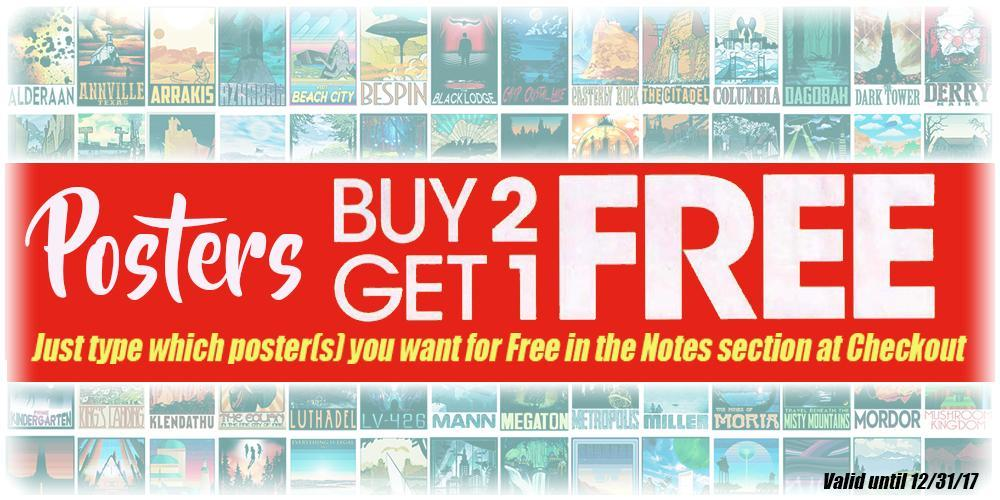 Posters Buy 2 Get 1 Free