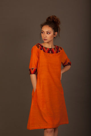 Flaming Marigold Dress