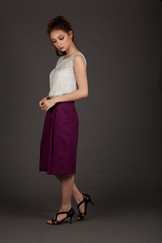 Run This Town Burgundy Skirt