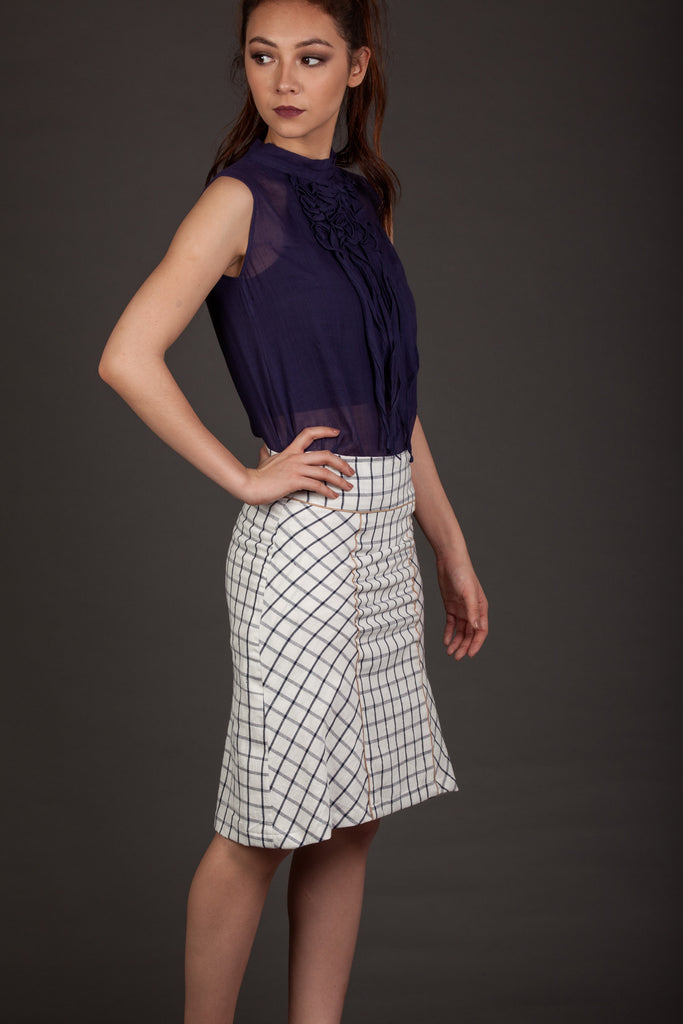 The Grid  Skirt