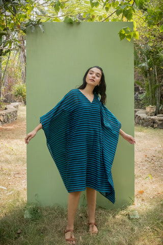 Breezy Blue Kaftan Dress