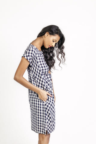 Mini Gingham Shift Dress
