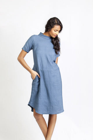 Shot Collar Dress