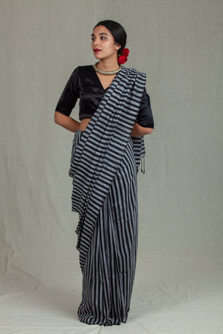 Nira Black and Grey Stripes