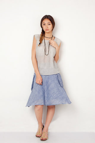 Blue Picnic Skirt