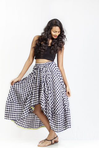 Boho Checked Skirt