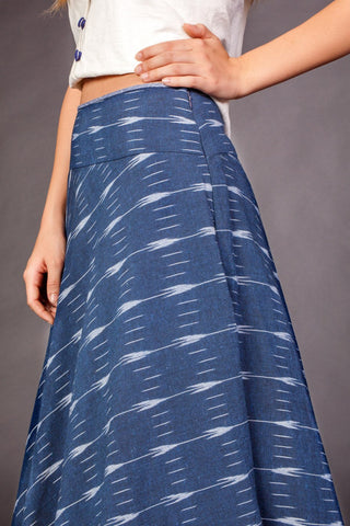 Denim Ikat Skirt