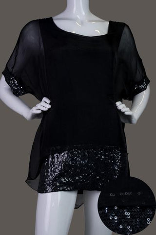 Imagine - Black Top Silk w Sequins 10IM2161B