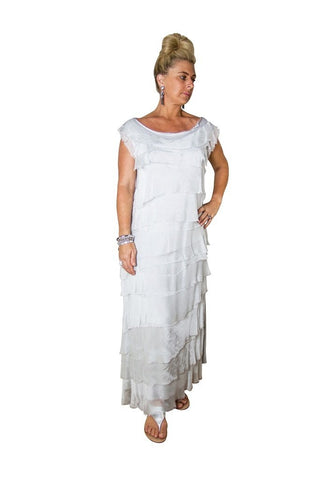 Imagine - White Flapper Silk Skirt 10IM2272W