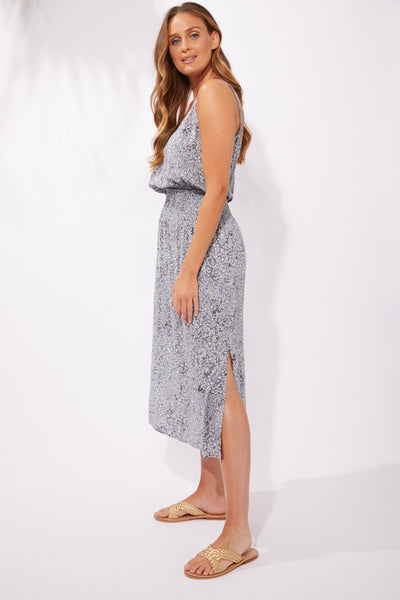 Haven - Havana Strap Dress - Havana Blue