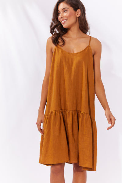 Haven - Majorca String Dress - Caramel